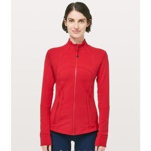 Lululemon Define Zip Up Jacket Lightweight Orange